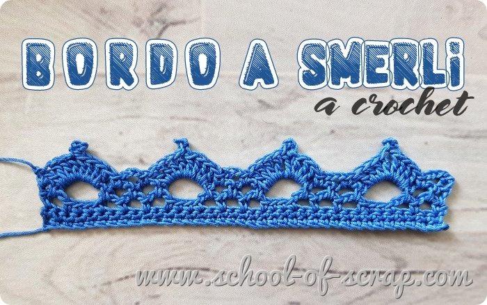 Uncinetto speciale bordi e bordure bordo a smerli a crochet