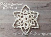 Decorazioni all'uncinetto: la stella fiocco di neve facile con lo schema