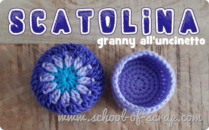 Uncinetto facile speciale regali scatolina granny a crochet