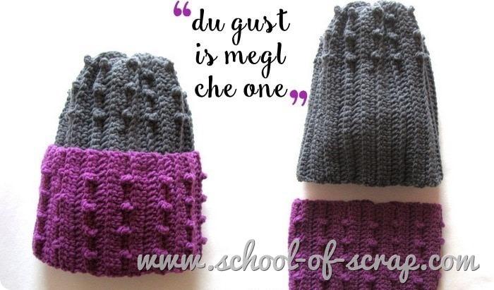 Uncinetto speciale regali - coordinato berretto scaldacollo in due colori