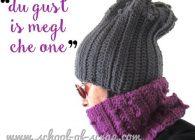 Uncinetto speciale regali: coordinato berretto + scaldacollo in due colori