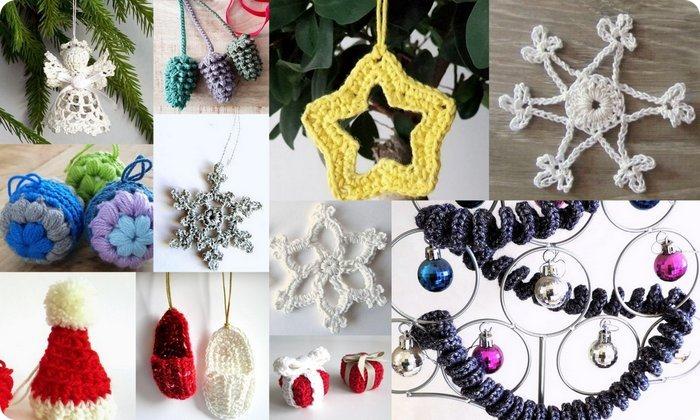 decorazioni all'uncinetto per l'albero di Natale 11 idee da copiare subito
