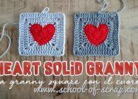 Uncinetto facile: mattonelle granny con il cuore per San Valentino