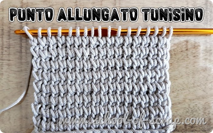 Uncinetto tunisino facile il punto allungato