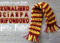Uncinetto tunisino facile: tutorial segnalibro sciarpa Grifondoro Harry Potter