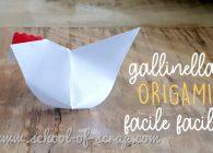 Tutorial della gallinella origami facile e bella