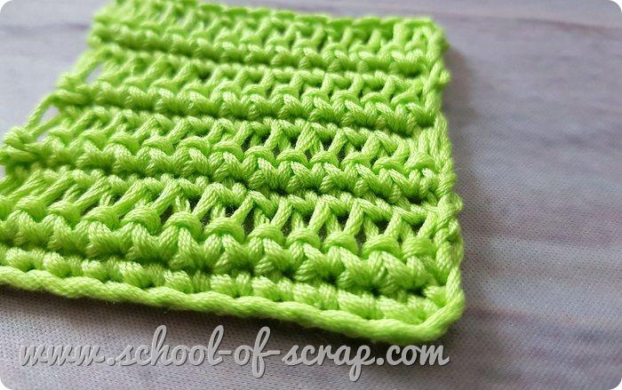 Uncinetto facile - punto allungato che imita la maglia allungata ai ferri