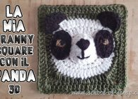 Uncinetto facile: video tutorial piastrella granny square con panda 3D