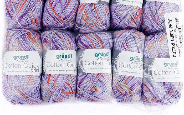 filato multicolor in cotone per uncinetto