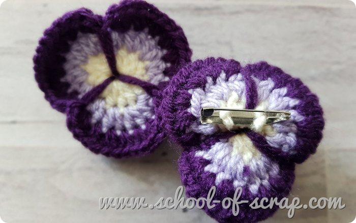 Uncinetto videotutorial del fiore viola del pensiero pansy flower a crochet