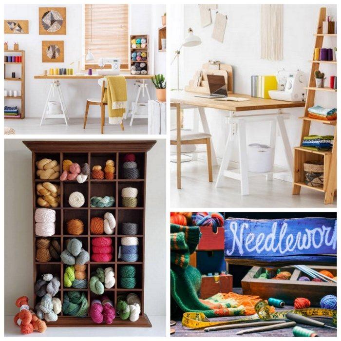 uncinetto, cucito, maglia e tanti altri - Idee per progettare la stanza degli hobby