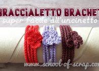 """Braccialetto con effetto macramè - tutorial uncinetto super facile """"Brachet"""""""