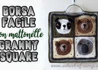 Idee uncinetto: come fare una borsa facile con mattonelle granny square