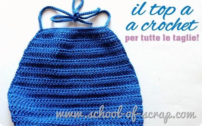 Scuola di Uncinetto il top estivo da fare a crochet in 2 ore per donna e bimba