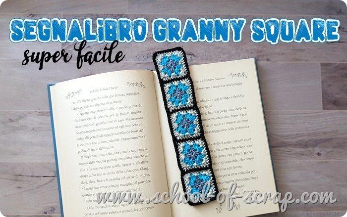 Uncinetto facile tutorial segnalibro veloce con mattonelle granny square