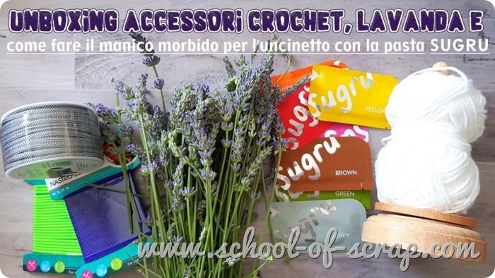 accessori crochet, lavanda, manico morbido per uncinetto fatto con pasta SUGRU