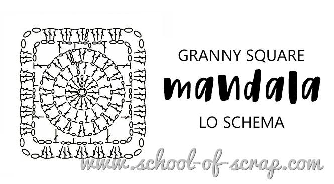 uncinetto granny square mandala - LO SCHEMA