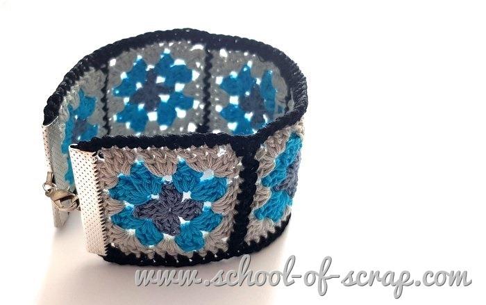 Uncinetto facile -video tutorial braccialetto con mattonelle granny square