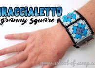 Uncinetto facile: video tutorial braccialetto con mattonelle granny square
