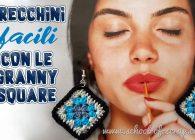 Bijou all'uncinetto: orecchini facili con mini mattonelle granny square