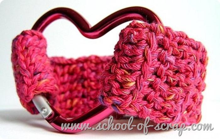 tutorial per fare braccialetto facile a crochet