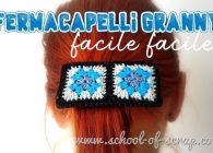 Passione crochet: fermacapelli con mattonelle granny square all'uncinetto