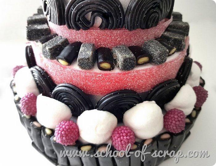 Come fare la torta di caramelle liquirizie marshmallow videotutorial candy cake