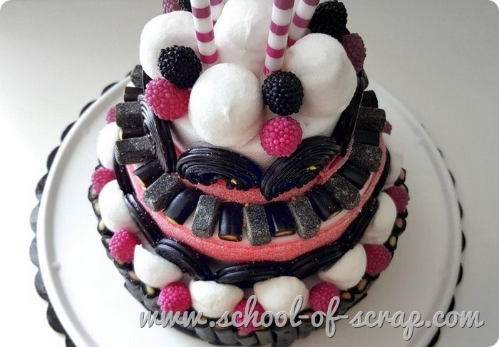 Come fare torte di caramelle liquirizie marshmallow videotutorial candy cake