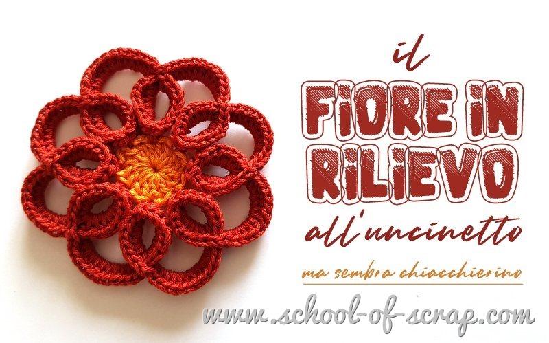 Crochet tutorial Fiore in rilievo a uncinetto che sembra chiacchierino