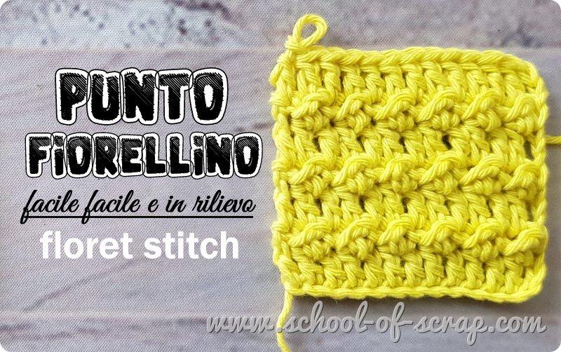 Passione uncinetto Punto Fiorellino a rilievo Floret stitch crochet