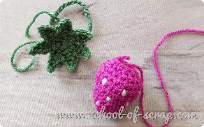 Fragola amigurumi all'uncinetto tutorial facile crochet