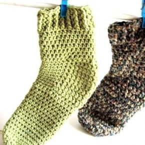 Calzettoni toe-up crochet