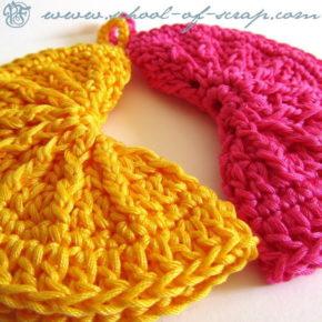 Pattern spiegazione in PDF per presine Clean&Simple da realizzare a crochet.